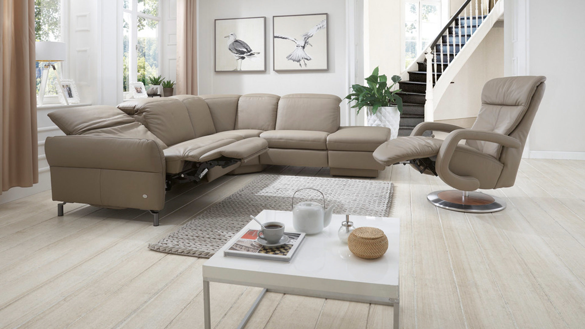 wohnlandschaft braun leder, möbel boer coesfeld, möbel a-z, couches + sofas, comfortmaster, Design ideen